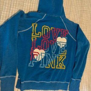 PINK brand glitter hoodie